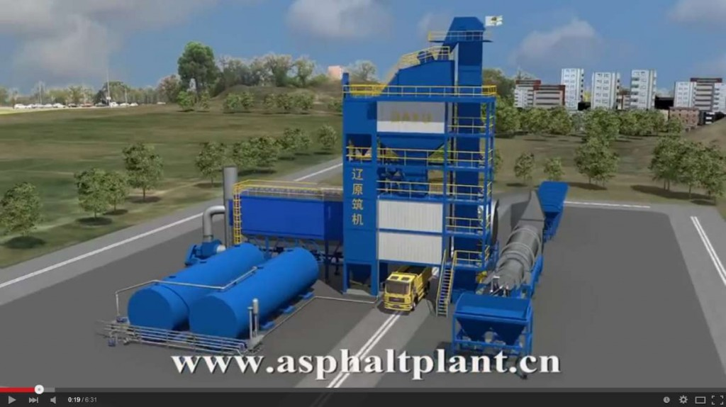 Chinese Asphalt Plant Animation