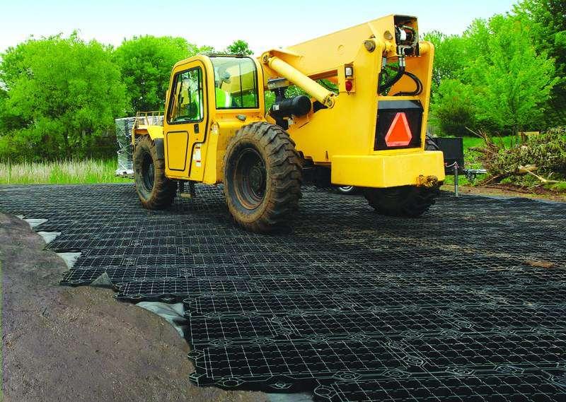 Lightweight construction mat alternative