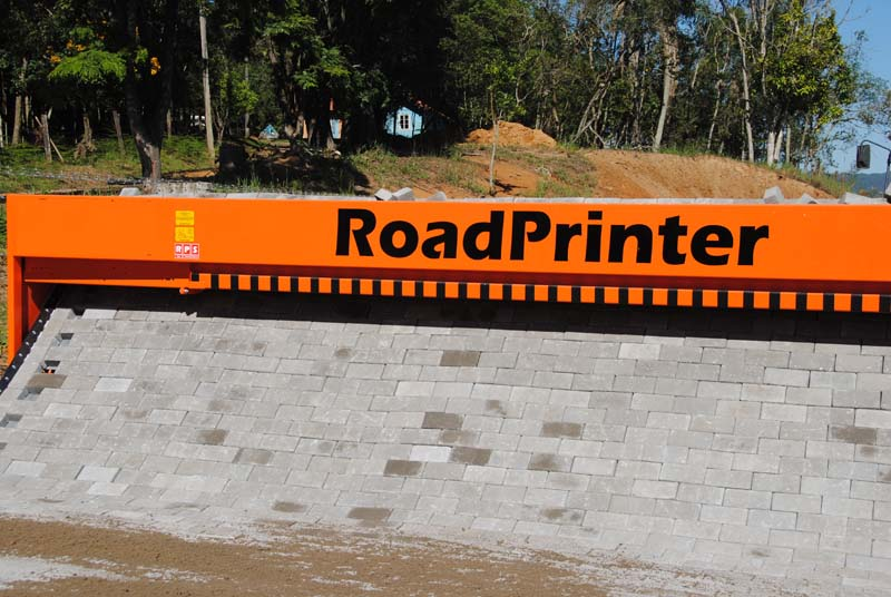 The Roadprinter automates brick paving