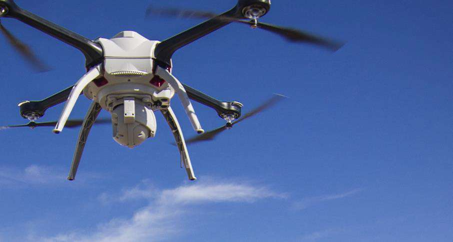Aerial drones to inspect and survey water