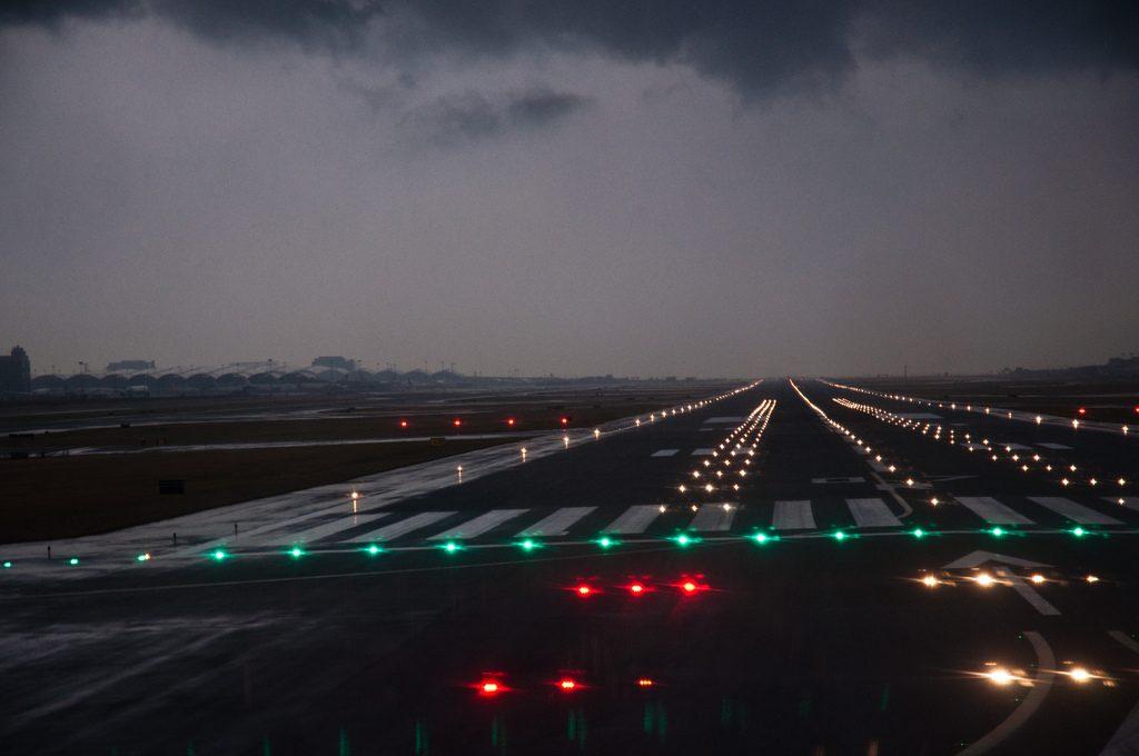 Hong Kong Airport Runway