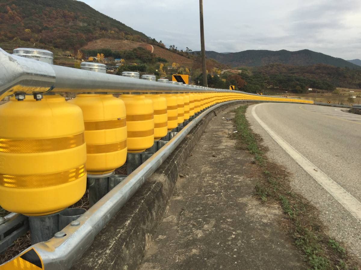 Korean guardrail safety barrier system on a roll to