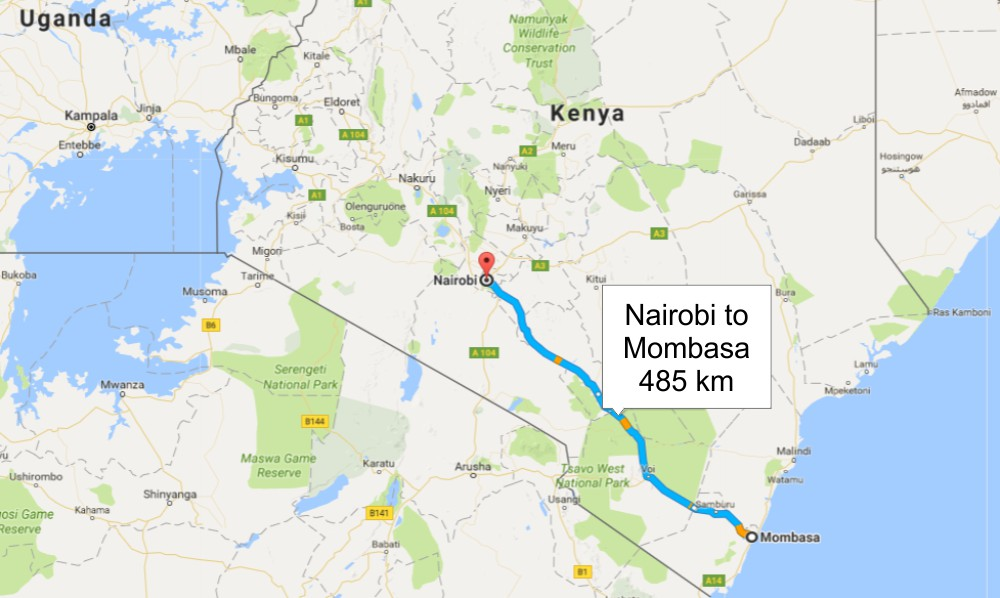 Kenya Highway Map