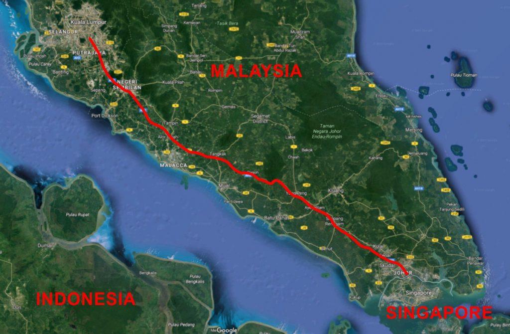 Malaysia Rail Project Map