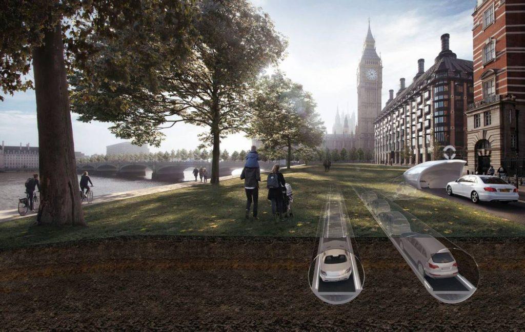 Car Tube runs cars under the city