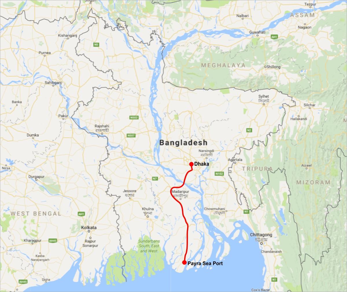 240 Km Railway Link between Dhaka and Payra Port in Bangladesh ...