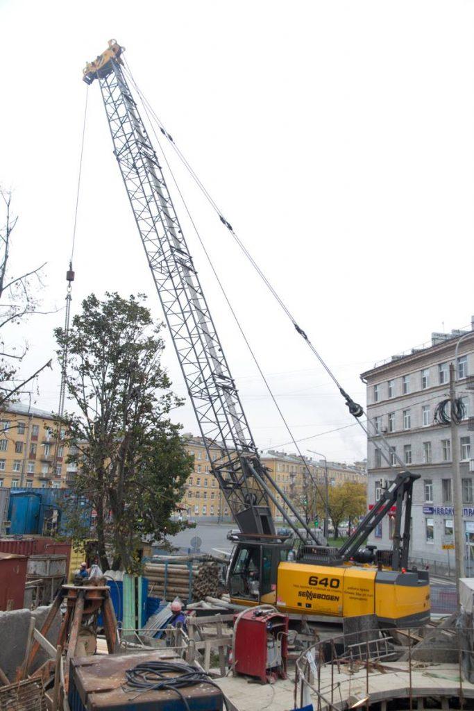 Sennebogen 640 HD Crane in St Petersburg