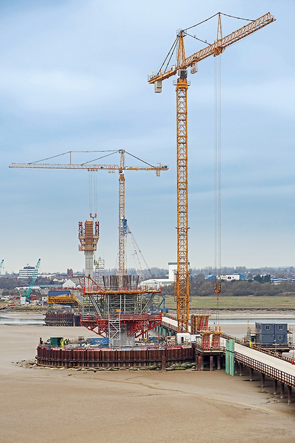 Britain's Mersey Gateway Bridge uses PERI's Self Climbing Formwork