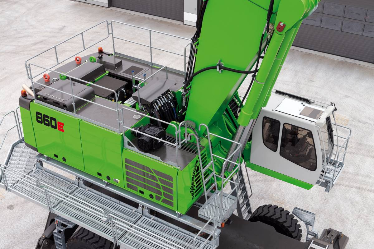 Sennebogen announce 860 E-Series Material Handlers for scrap handling and ports