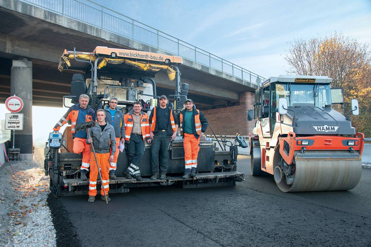Concrete and asphalt from a single source as Wirtgen machines rehabilitate Germany's A5