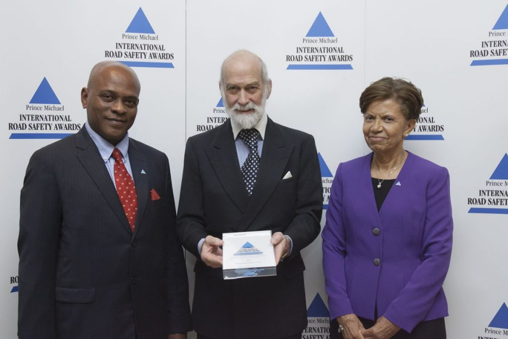 Belize Road Safety Project Road wins Prince Michael International Road Safety Award