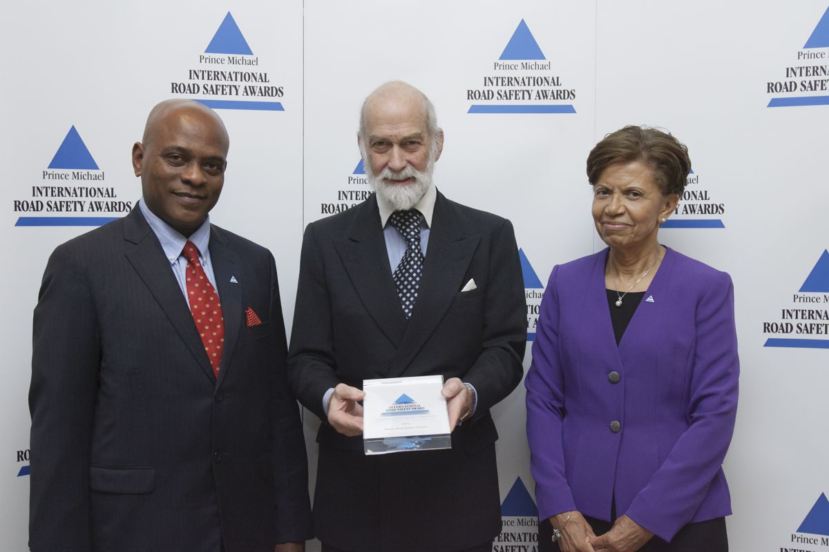 Belize Road Safety Project wins Prince Michael International Road Safety Award