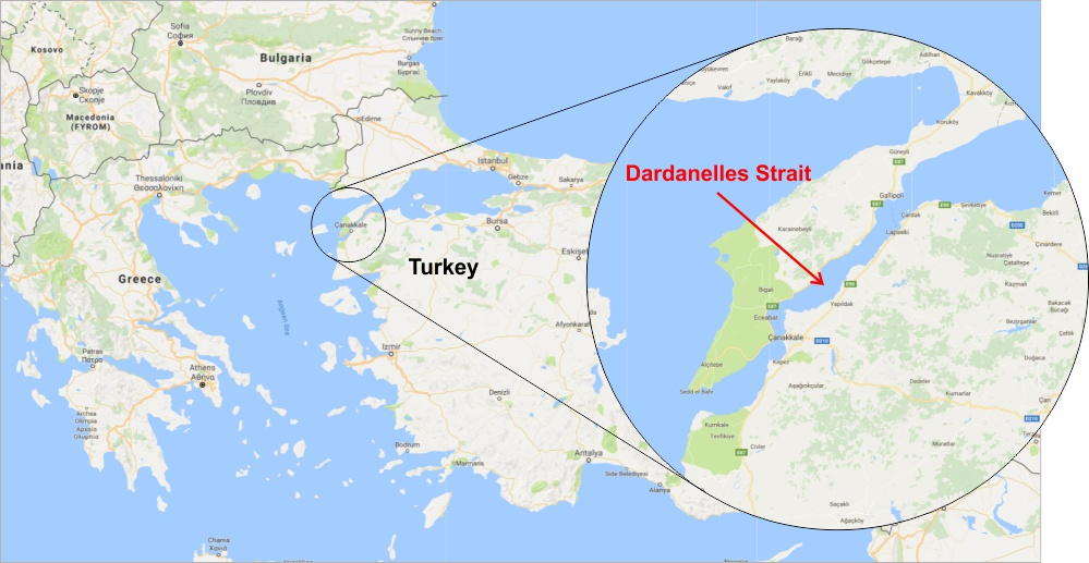 Dardanelles Strait in Turkey