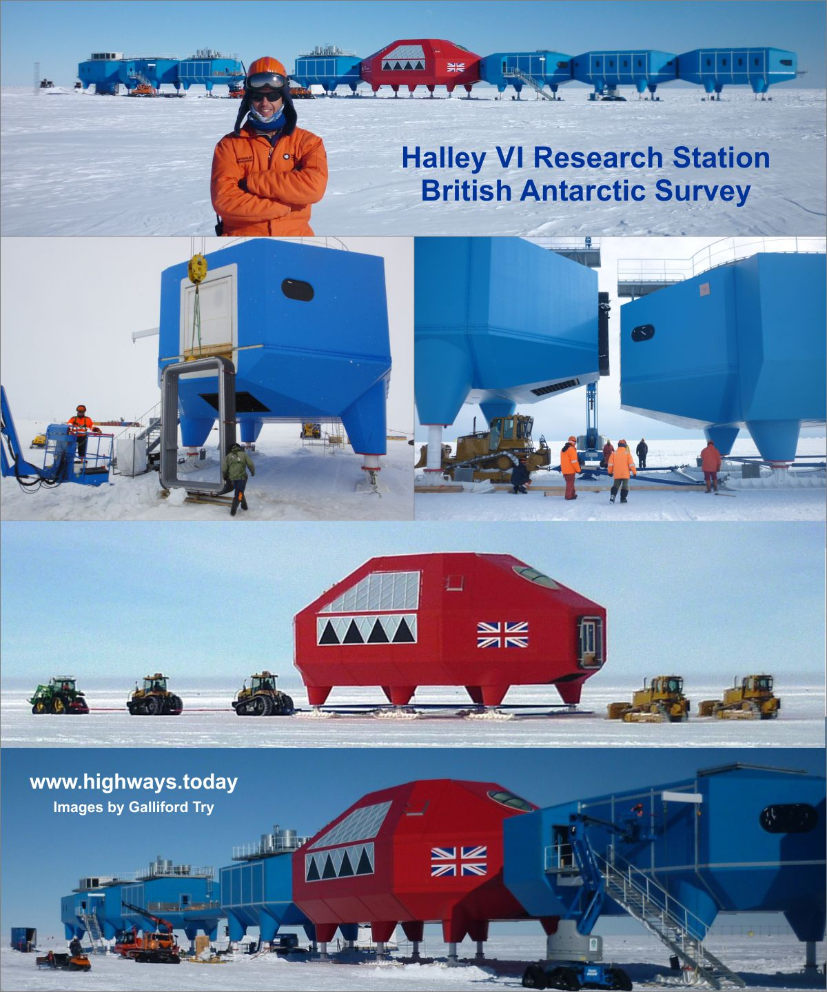 Antarctic Research Station Halley Vi Creates Its Own