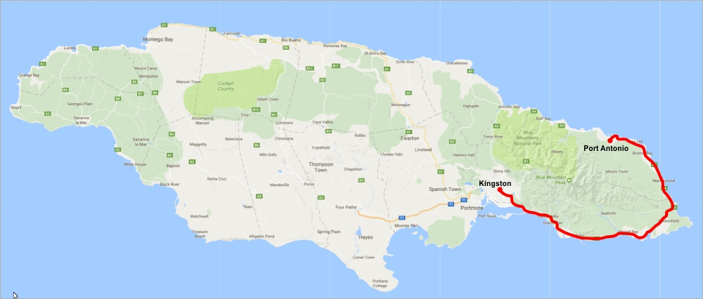 China Funds Jamaicas US348 Million SouthEast Coastal Highway - Jamaica On Us Map