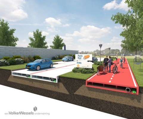 Are prefabricated sustainable plastic roads the future?