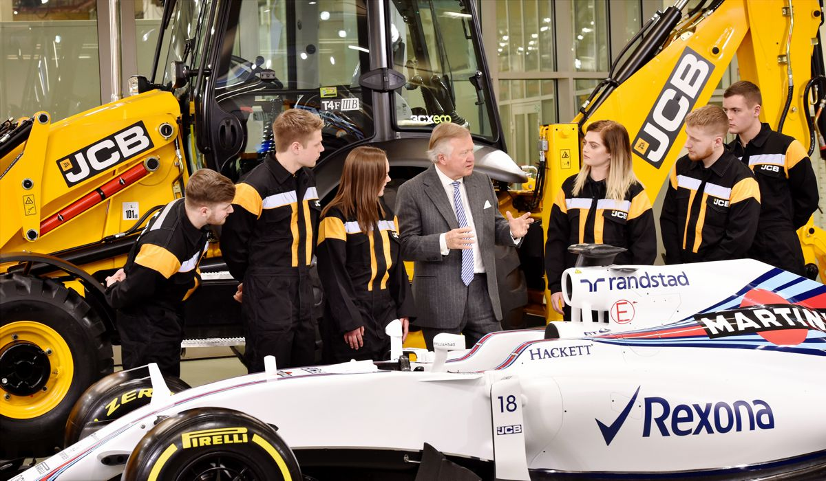 JCBis partnering with F1 Racing team Williams Martini Racing