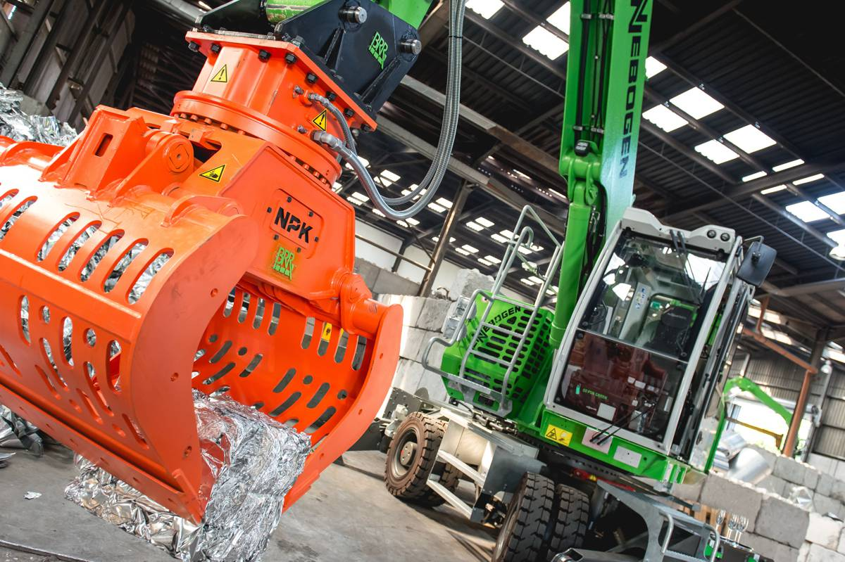 Electric Sennebogen material handlers a big hit at Biewer Industrie in Germany