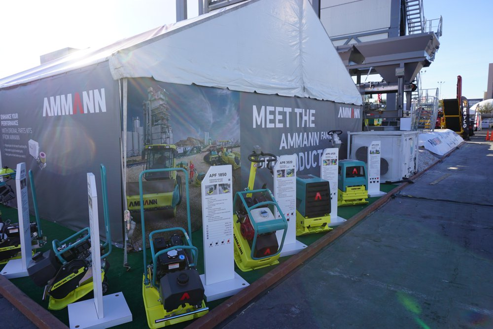 Ammann plate compactors displayed at ConExpo 2017