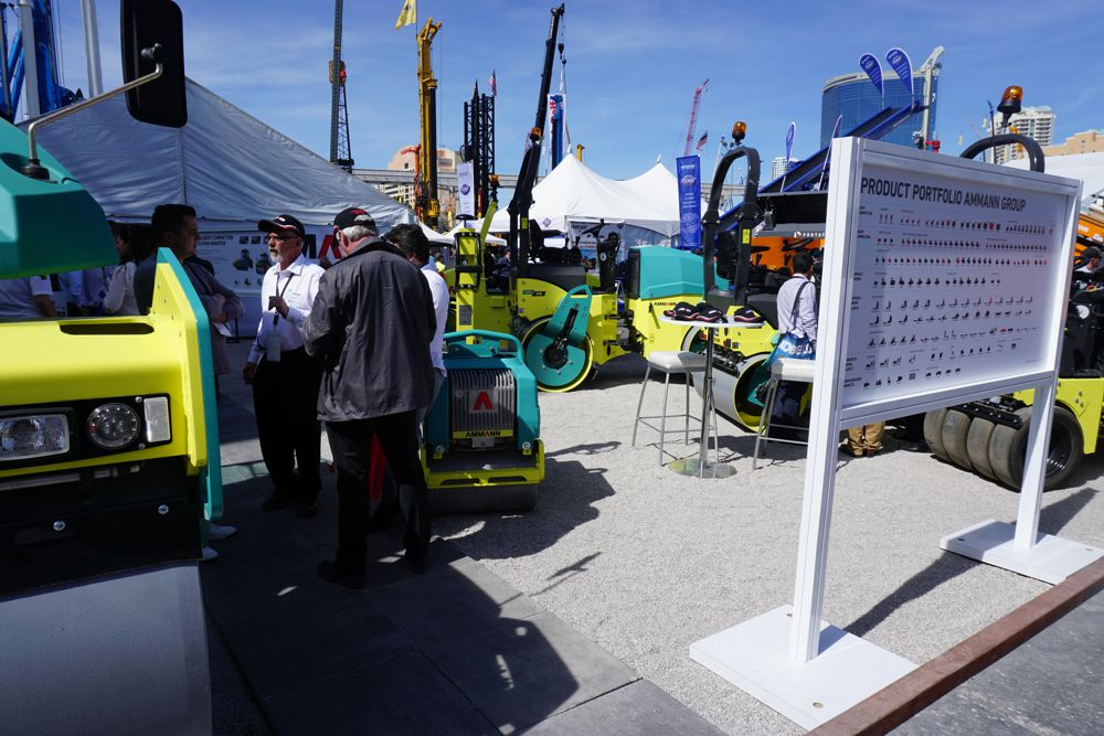 Ammann rollers displayed at ConExpo 2017