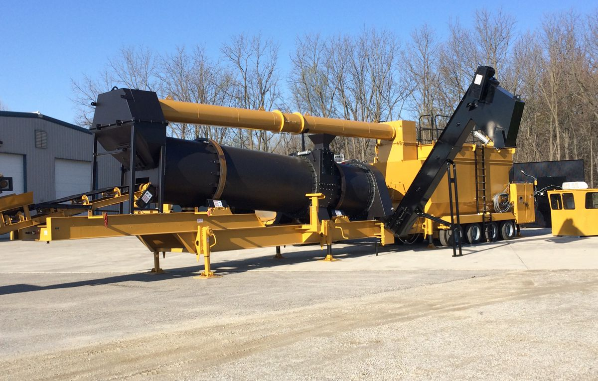 ADM EX120 Asphalt Plant offers Counterflow Technology for compact size and easy portability