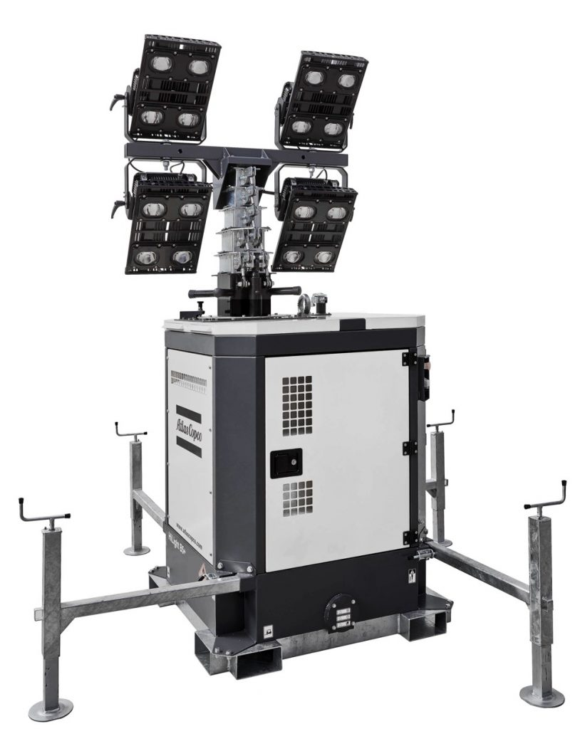 Atlas Copco Unveils Complete LED HiLight Tower Lighting