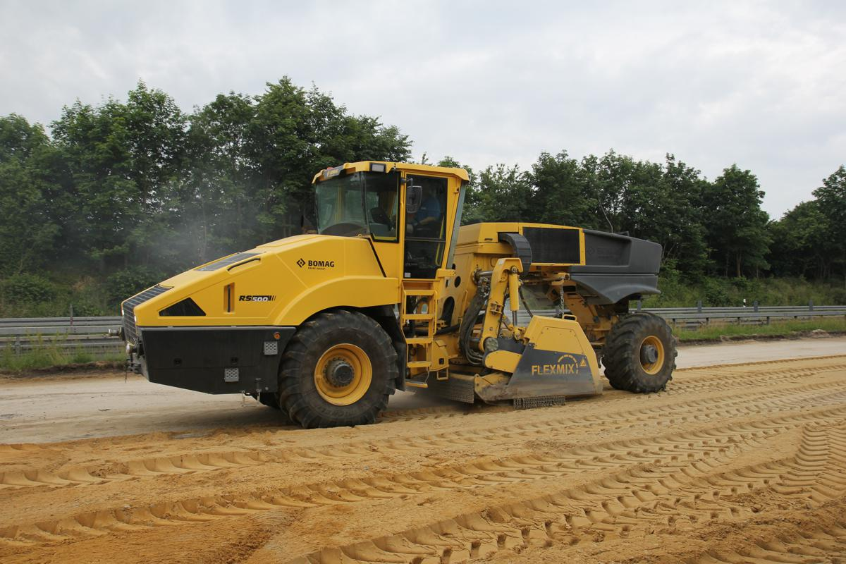 Bomag RS500 recycler/stabiliser shows offsuperior performance and technology