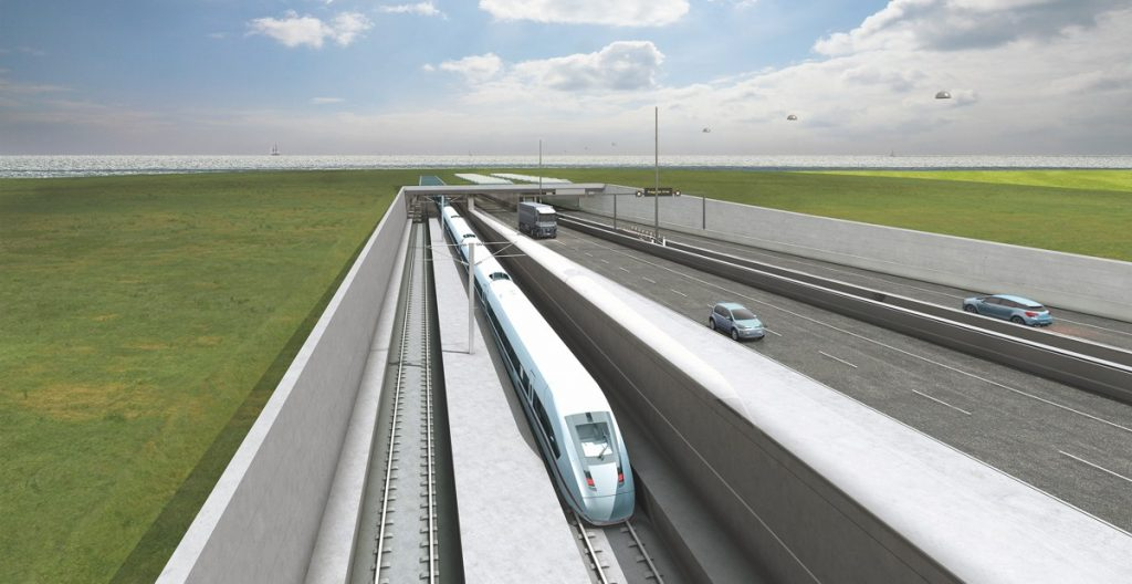 Fehmarnbelt Immersed Tunnel linking Denmark and Germany