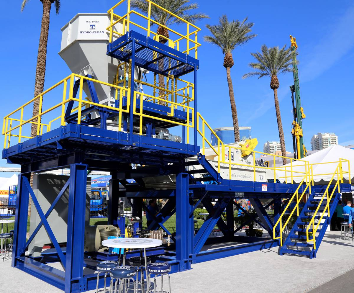 Haver and Boecker Hydro-Clean 1000 Wash Plant offers convenience and improved productivity