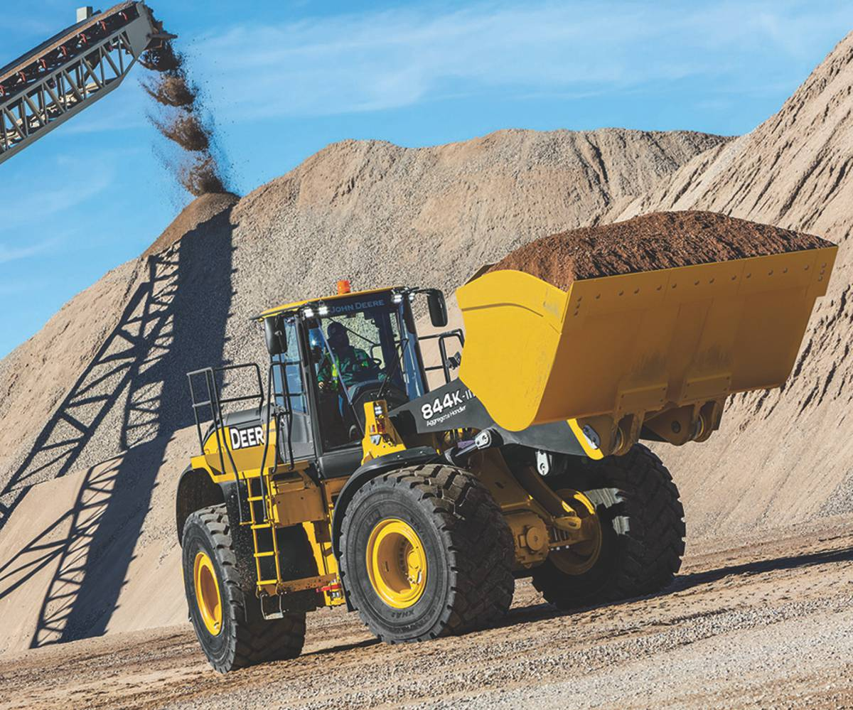 John Deere adds 844K-III and 844K-III aggregate handler to their wheel loader line-up