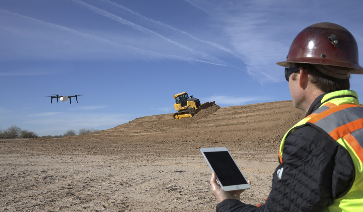 John Deere and Kespry simplify drone integration on construction job sites