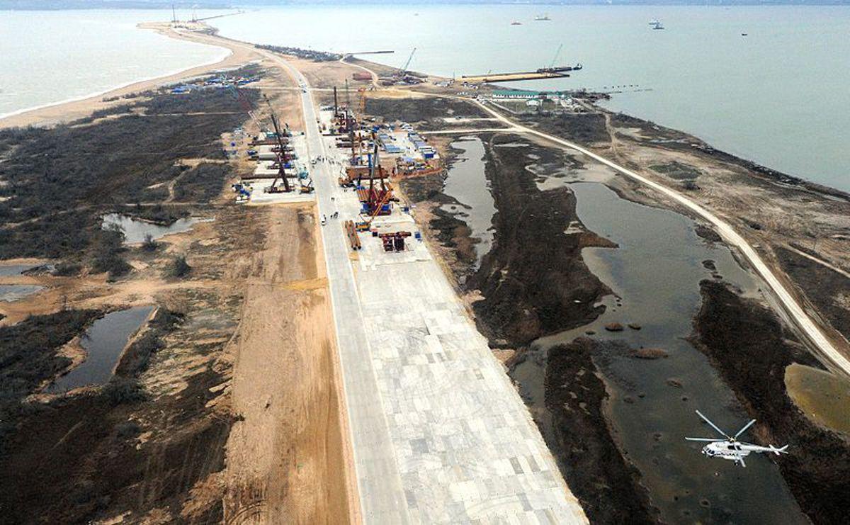 20km Kerch StraitBridge to link Russia and Crimea is well underway