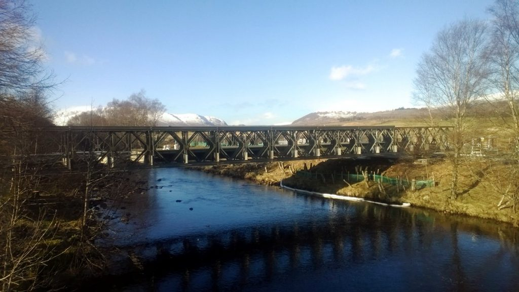 Mabey Bridge build over River Spey