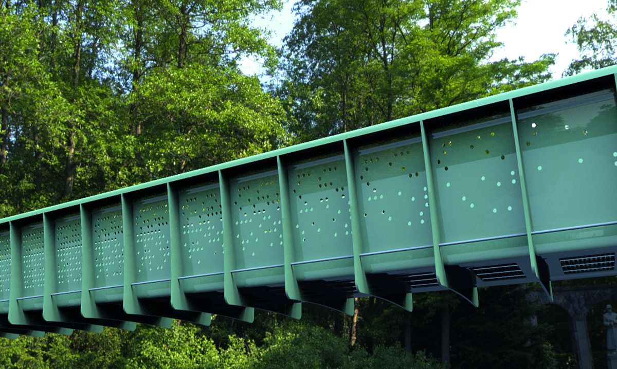 Arup and Mabey Bridge launch first plastic modular footbridge in Oxford, England