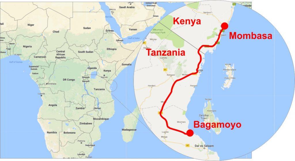 Mombasa to Bagamoyo Highway