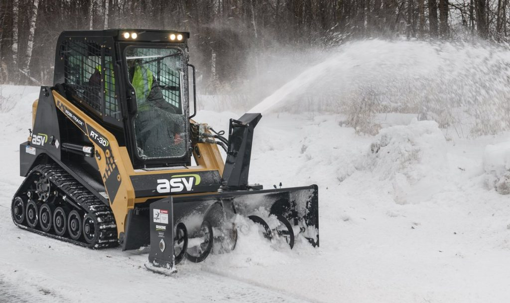 The ASV Posi-Track RT-30's small size allows it to excel in tight areas in industries such as landscaping, snow removal, rental and construction.