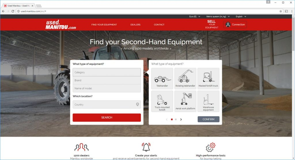 Manitou Used Website Screenshot