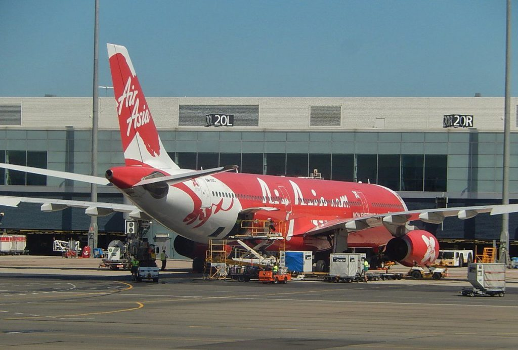 Air Asia A330 at Adelaide Airport