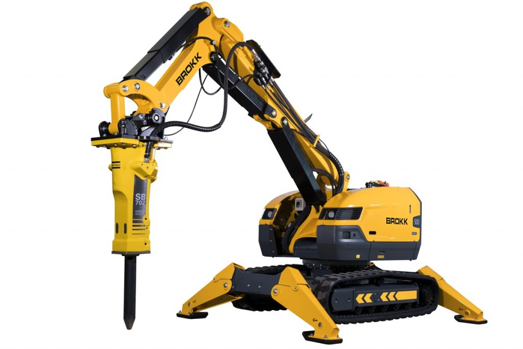 Brokk introduces the new Brokk 500, which features 40 percent more demolition power than the Brokk 400 as well as the Brokk SmartPower™ electrical system, a more powerful breaker, extended reach and industry-leading serviceability.