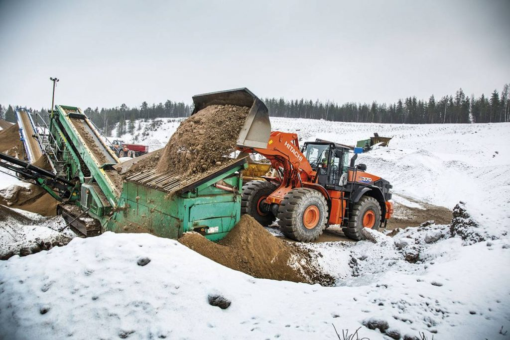 Finnish quarry hails Hitachi ZW370-6 wheel loaders for their unrivalled productivity