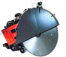 This size of floor saw is typically found on larger road repair jobs on freeways, airports and bridges