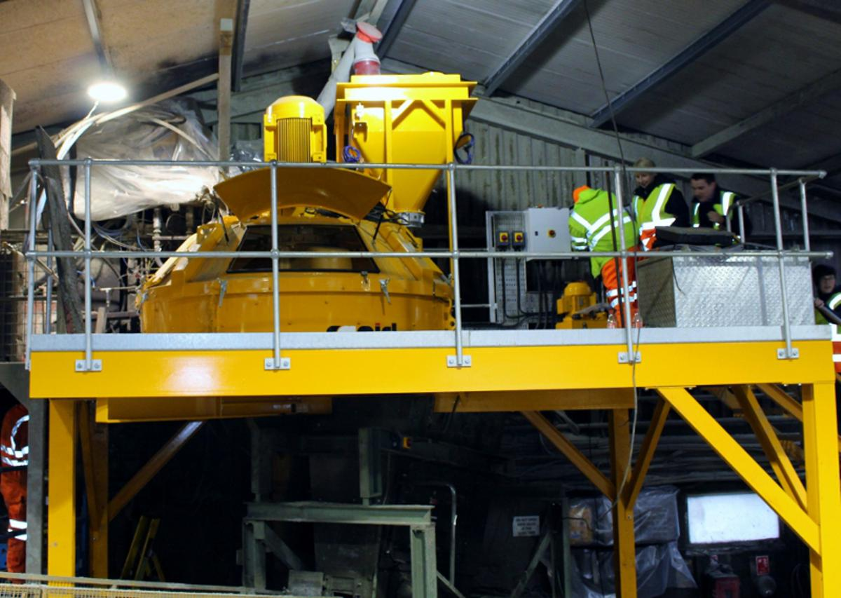 Rapid's Planetary Concrete Mixer gives Lagan the edge
