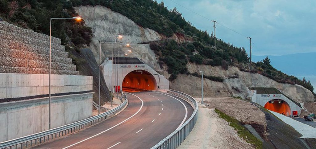 Panagopoula Tunnel in Greece