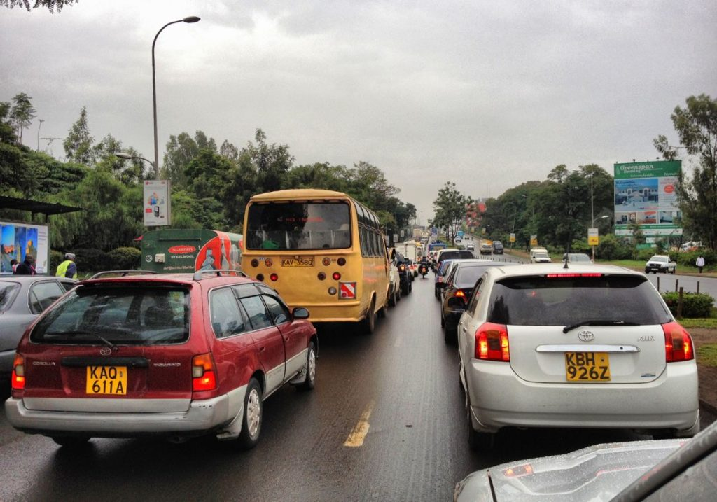 Traffic congestion in Nairobi