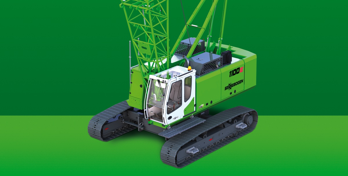 SENNEBOGEN announce their smallest Crawler Crane, the 50 ton 1100 E
