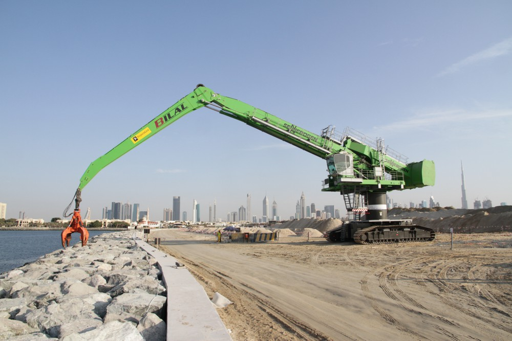 Land reclamation in dubai relies on precise sea wall for Soil reclamation