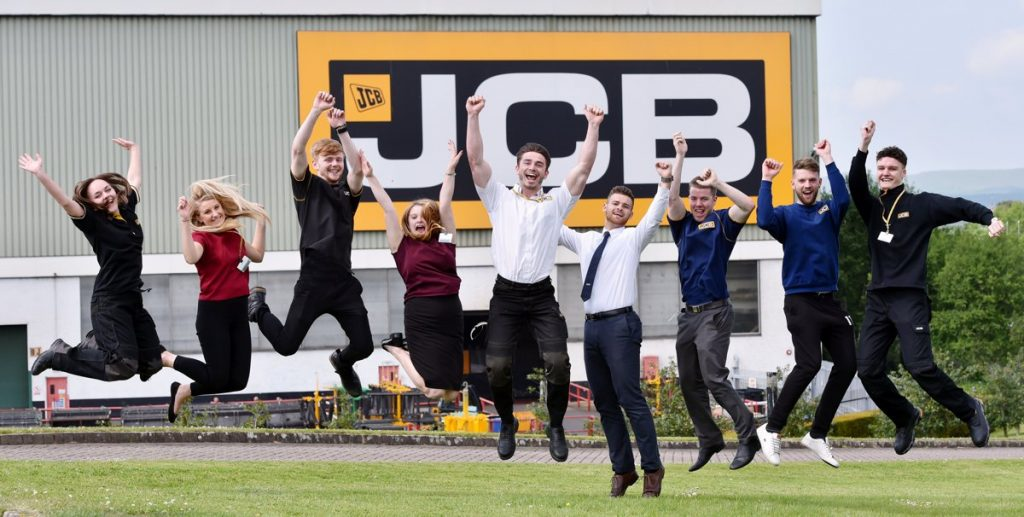 JCB Apprentices ecstatic at reaching finals for Apprentice Team of the Year