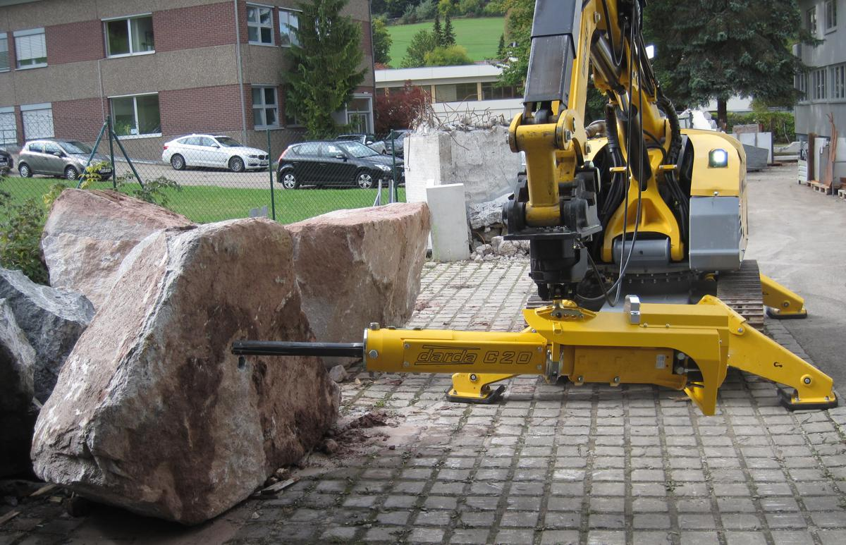 Brokk brings more power and safety, less noise with Darda Rock Splitters