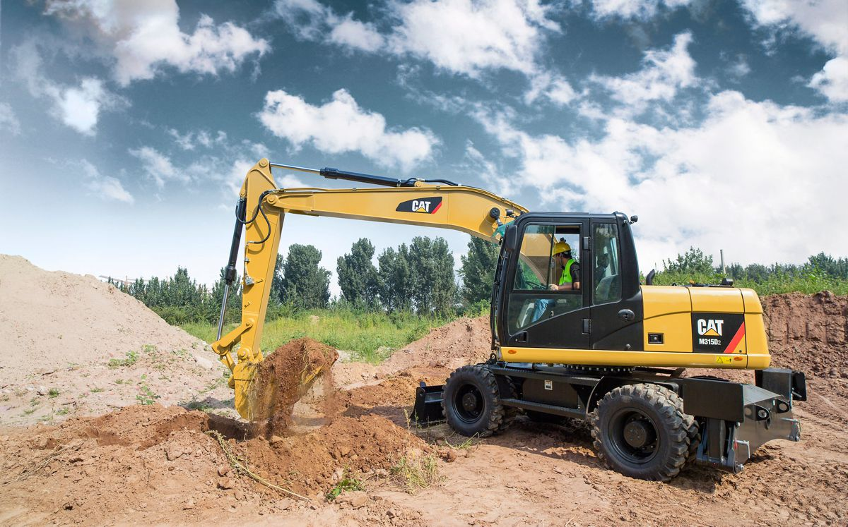 Caterpillar M315D2 and M317D2 Wheeled Excavators feature fuel-efficiency, increased durability and easy maintenance