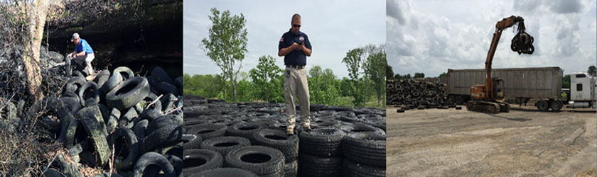 Recycled tire asphalt grant funding available to counties